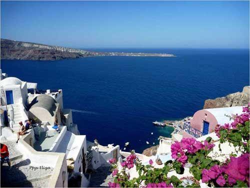 Mirando al mundo con sentimientos: Relato de un viaje: La hermosa Santorini
