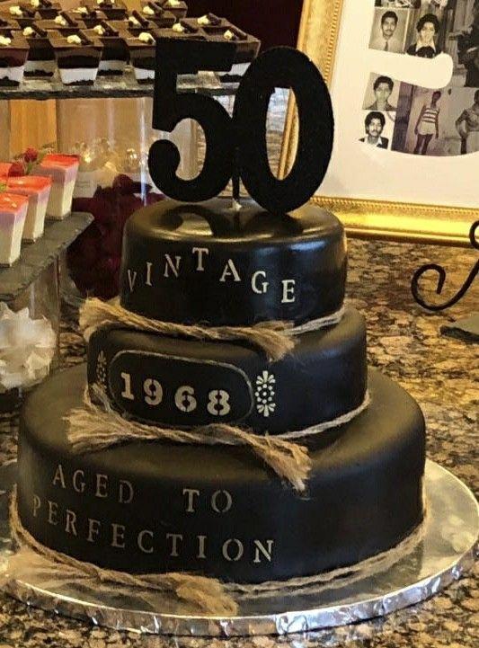 50th Birthday Cake Dad Birthday Cakes Birthday Cake Decorating