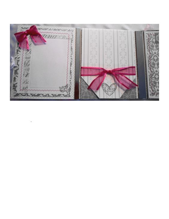Wedding Dimensional Gatefold Multi-pocket Scrapbook, This sweet little book was made for a up-coming wedding very understated but pretty!