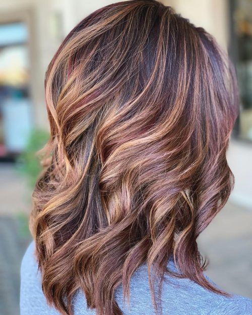 21 Best Dark Hair With Blonde Highlights For 2020 Blonde Highlights On Dark Hair Blonde Highlights Burgundy Hair With Highlights