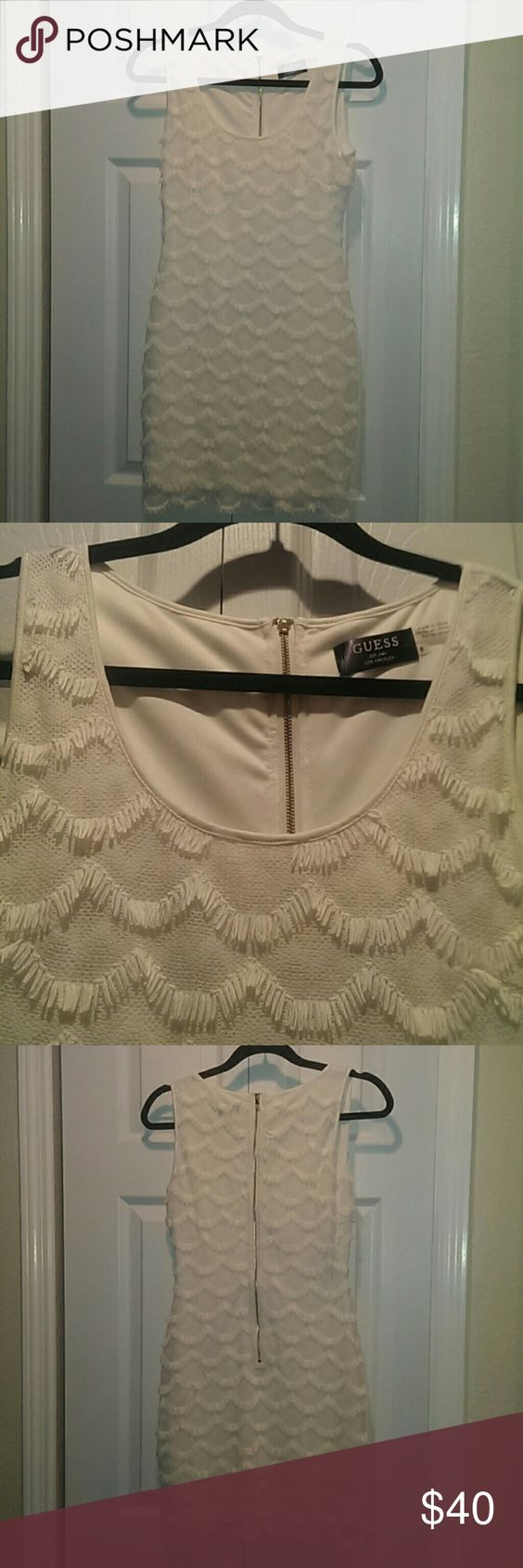 Cream Guess Dress Only worn once beautiful cream colored Guess Dress Guess Dresses