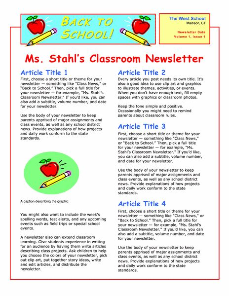 4b7eaa9052909ac7c849ea1b4e23172e Sample Daycare Newsletter Templates For Parents on blank monthly, visual performing arts, nutrition program,