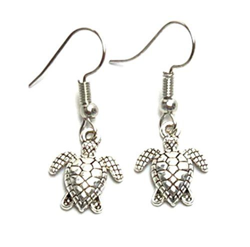 Metal Turtle Dangle Earrings
