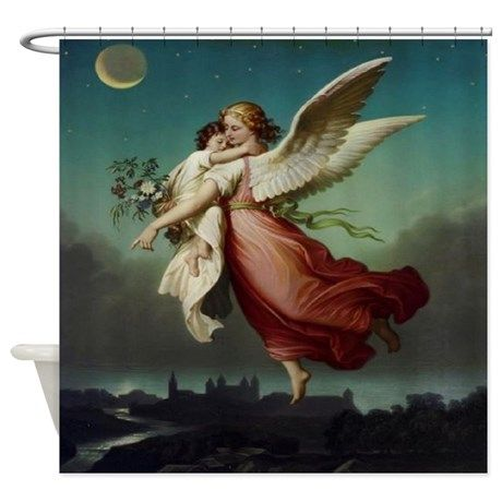 Guardian Angel Shower Curtain | Pinterest | Showers, Angel and ...