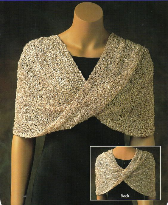 Mobius Shawl  Poncho Knitting Pattern Womens Reversible Poncho Shawl Capelet Knitting Pattern PDF Instant Download