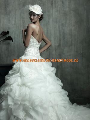 2013 Luxuriöse Brautkleider für Pinzessin aus Organza und Satin Ballkleid mit Schleppe