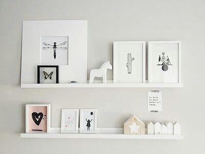 plankjes voor schilderijen - mintgreen nursery & kidsroom, Deco ideeën
