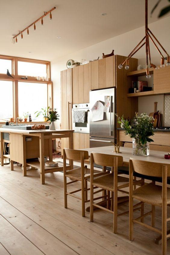 Remodeling 101: Easy Whitewashed Scandi Floors - Mjolk Kitchen | Remodelista