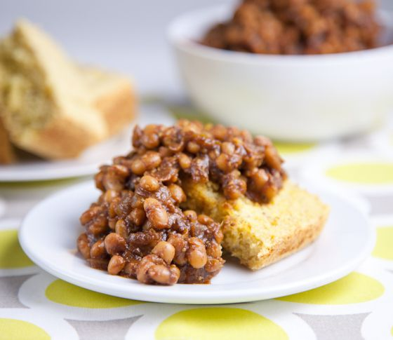 Homemade Baked Beans - Made them tonight with yellow cake cornbread (see Recipe List board) and it was a taste of southern heaven