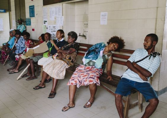 The outpatient entrance at Modilon hospital in Madang, Papua New Guinea, where Catherine is based (Picture: Ginny Lattul)