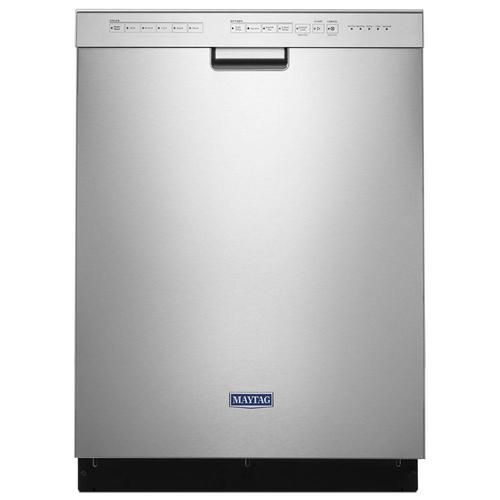 Maytag 50 Decibel Front Control 24 In Built In Dishwasher Fingerprint Resistant Stainless Steel Energy Star Lowes Com Maytag Dishwasher Built In Dishwasher Maytag
