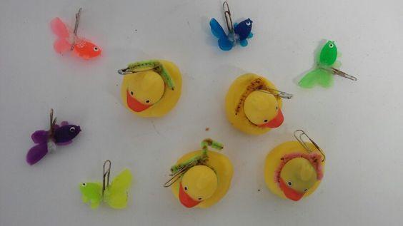 Aneguets i peixos per pescar amb imants