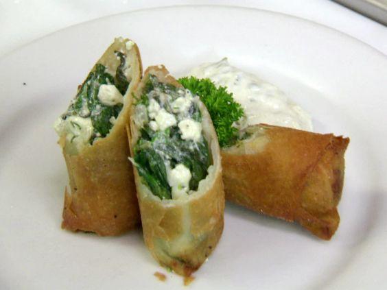 Spanakopita Eggrolls from FoodNetwork.com
