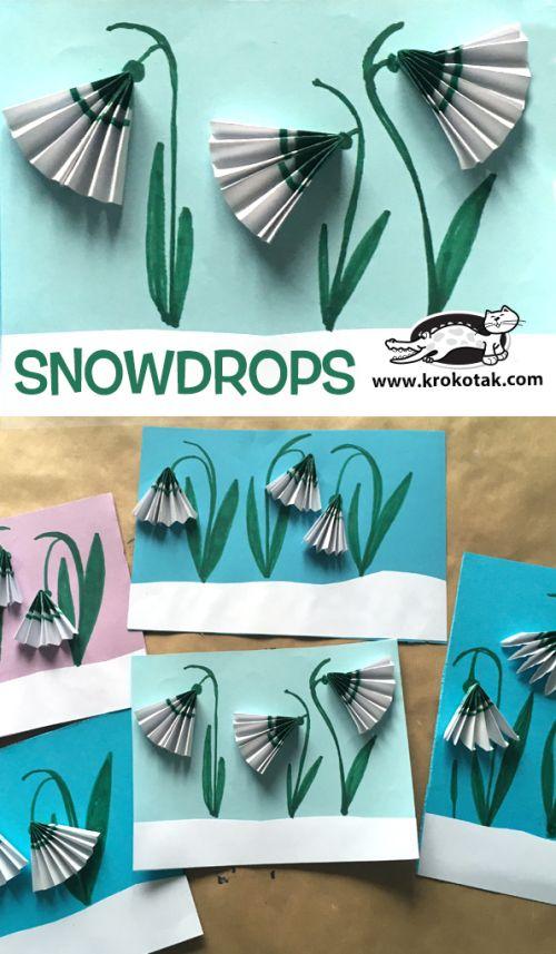 Snowdrops Valentine Crafts Flower Crafts Spring Crafts For Kids
