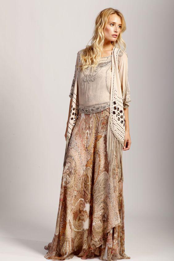 #Spring #HauteHippie..just like shirt and skirt...nix vest