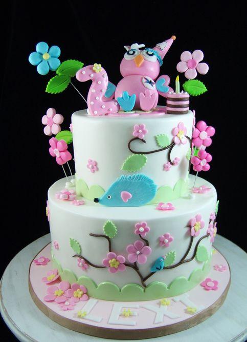 Owl Birthday Cake Bolo Bolo De Festa Festa