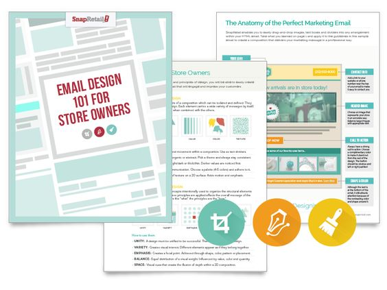 SnapRetail | FREE Download: Email Design Guide for Store Owners, learn graphic design best practices and apply them to your email marketing
