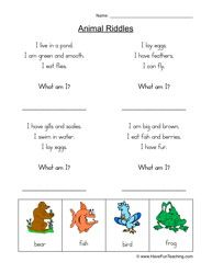 animal riddles worksheet 1 bju 3rd grade science class pinterest worksheets animals and. Black Bedroom Furniture Sets. Home Design Ideas