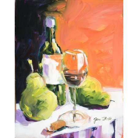 Pear Wine Canvas Art - Jane Slivka ()