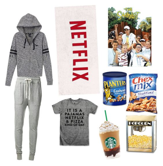 Snowed in part #2 by arisac on Polyvore featuring polyvore, fashion, style, Victoria's Secret PINK, James Perse, Thos. Baker and clothing