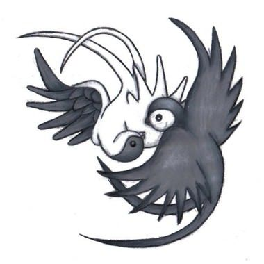 tatouage d 39 oiseau yin yang voil mon tatouage trouvez votre loulette pinterest le. Black Bedroom Furniture Sets. Home Design Ideas