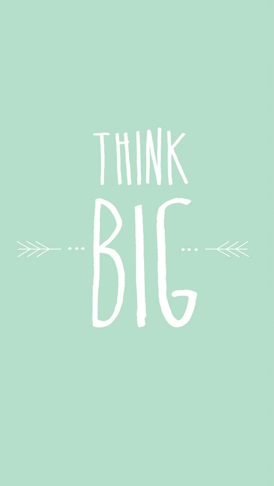 think big wallpapers and mint on pinterest