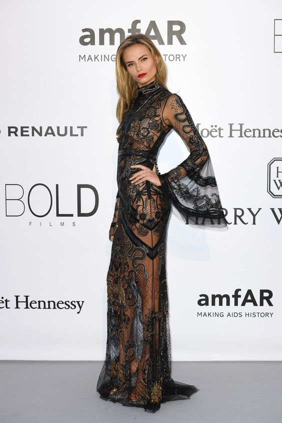 Natasha Poly au gala de l'amfAR 2016
