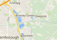 Map of frimley green uk