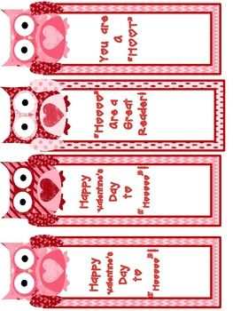 freebie valentine bookmarks and printables for