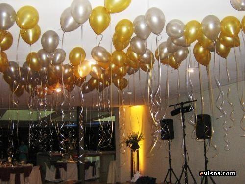 Decoracion globos para bodas oro bodas de oro - Decoracion bodas con globos ...