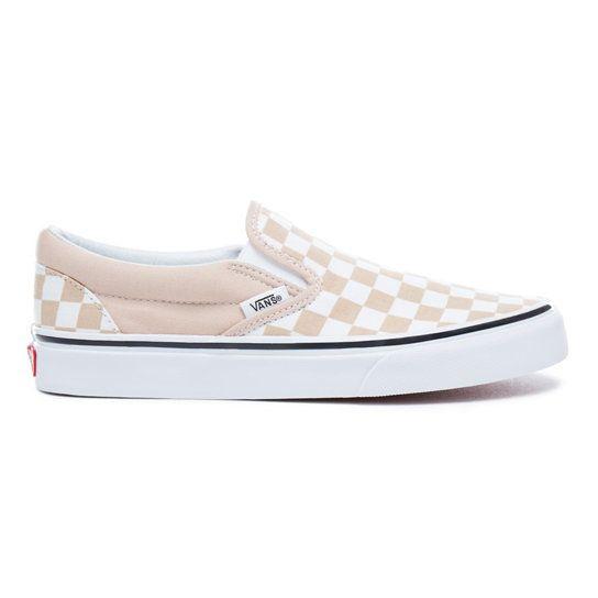 Checkerboard Classic Slip-On Shoes   Vans   Vans sans lacets ...