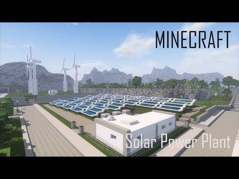 3 Minecraft Solar Power Plant And Wind Turbines Download Youtube Solar Power Plant Solar Power Facts Solar Power
