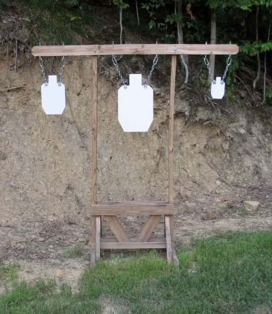 Homemade Target Stand Shooting Targets Shooting Range Outdoor Shooting Range