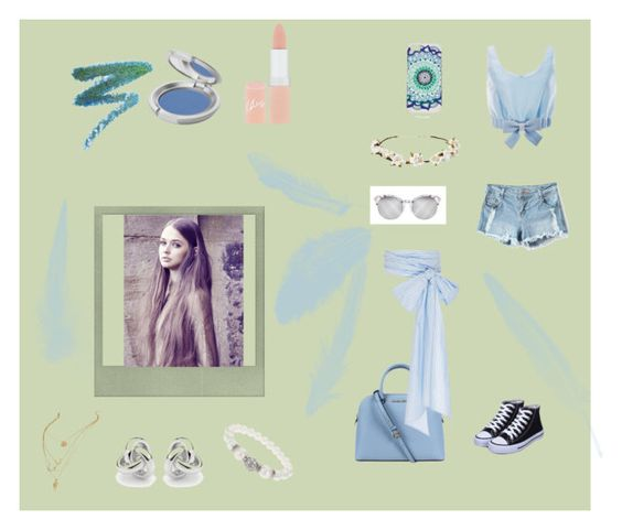 """Blue beaches"" by sushicatx ❤ liked on Polyvore featuring Honor, Michael Kors, Cult Gaia, MDS Stripes, Dorothy Perkins, Georgini, Manic Panic, T. LeClerc, Rimmel and Polaroid"