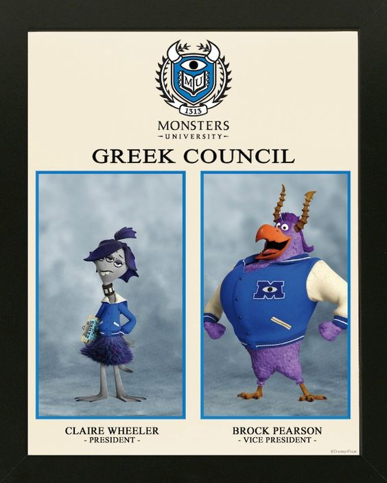Monsters University Greek Council