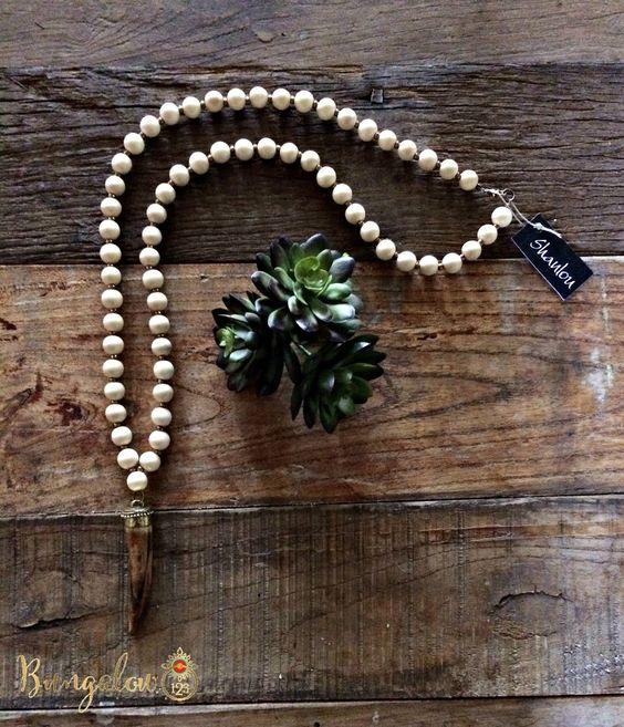 Cream/Tusk Shanlou Necklace (PRE-ORDER)
