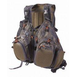 Chaleco multifunción, lo puedes utilizar tanto para chaleco, como para mochila, también como chaleco-pechera. Más en http://www.materialparapesca.com/15-ropa-de-pesca