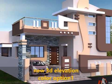 Porch Attatch Horizontal Stair Case Tower Designs Youtube Small House Elevation Design Village House Design House Layouts