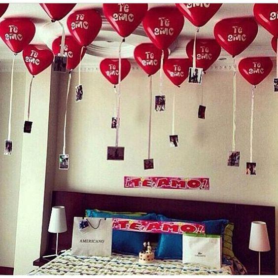 Ideia pra fazer no aniversario de casamento!! =D  ~ Surpresa Para Namorada No Quarto Dela