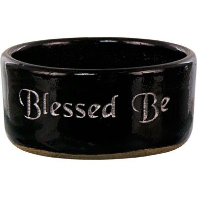 Blessed Be Incense Burner or could be used as an offering or devotional bowl. Find this item and many more on Etsy under The Herbal Greenhouse. You can also find The Herbal Greenhouse on Facebook & Pinterest.