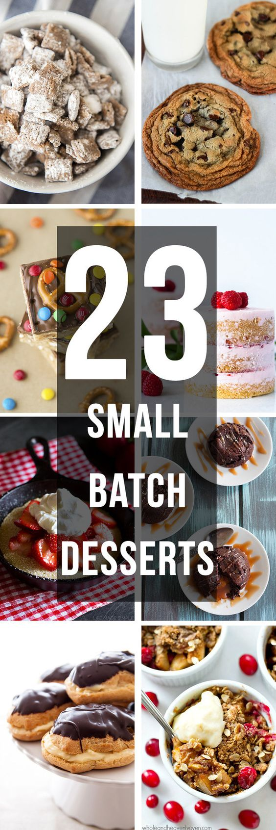 Because sometimes you just need something sweet, but you don't want to make a whole big batch. All of these recipes are perfect for just you, or they'd be great for sharing for Valentine's day too!