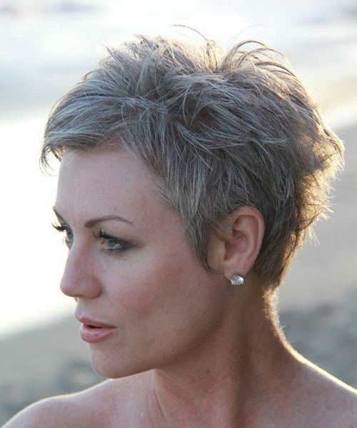 Cool And Classy Short Edgy Haircuts 2019 For Older Women Short Hair Styles Short Grey Hair Short Hairstyles Over 50