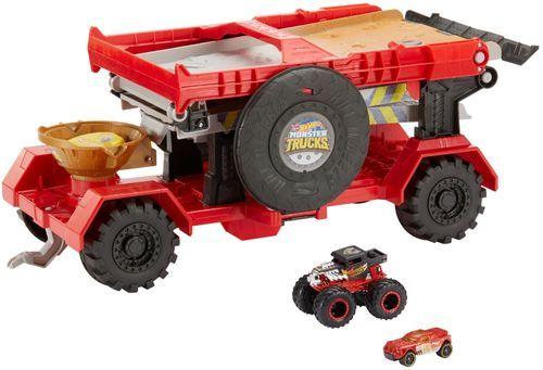 Hot Wheels Monster Trucks Downhill Race Go Play Set Gfr15 Best Buy Monster Trucks Monster Truck Toys Hot Wheels