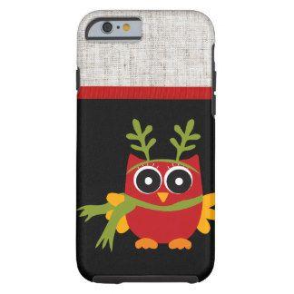 Retro Owl Christmas Tough iPhone 6 Case
