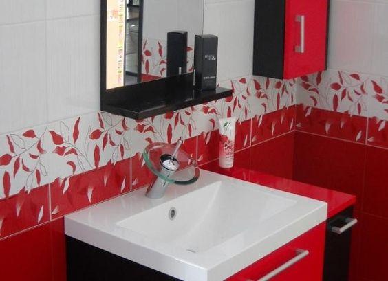 Blanco Casa, Negro Blanco, En Rojo, Mis Decoideas, Mi Baño, Decorar Baños, Muebles De, Bathroom Cuartos, Baño En