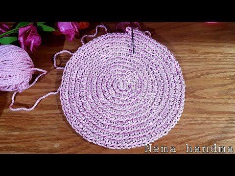 كروشيه قاعدة دائرية لشنطة بخيط المكرمية المصري How To Crochet Circle Youtube Crochet Hats Handma Crochet