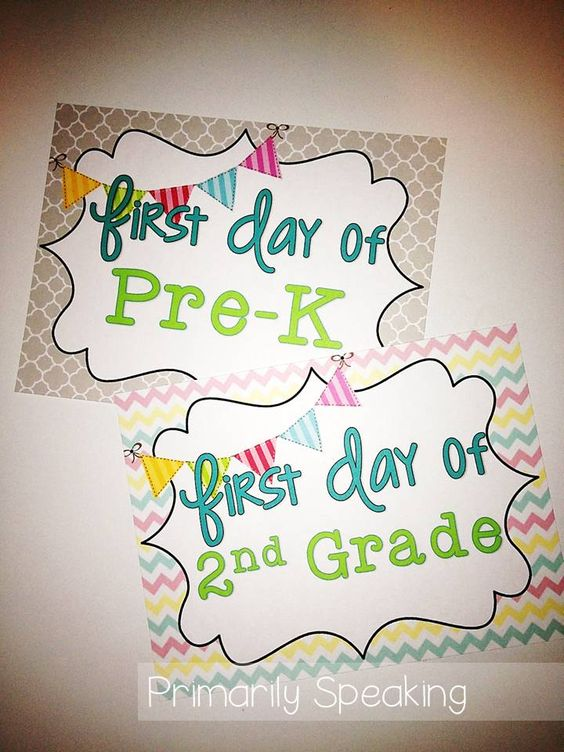 First Day of school free printable: