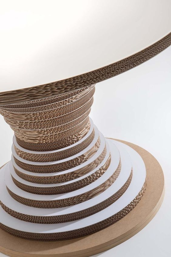 Round cardboard #table CLESSIDRA by Lessmore | #design Giorgio Caporaso @less more