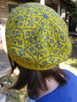 fair isle beret Tricot : Fair Isles Pinterest Color patterns, Berets an...