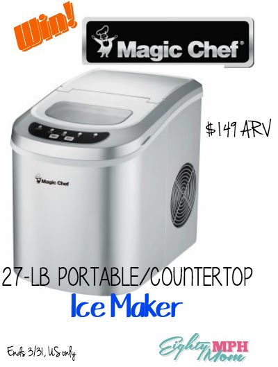 Magic Chef Countertop Ice Maker Directions : chef countertop oregon mom mph mom portable ice magic chef ice makers ...
